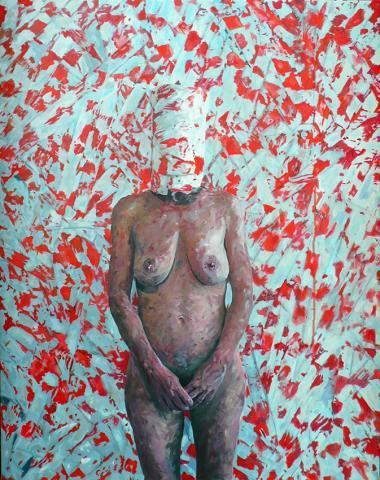 ERGOSUM 2 - 114 x 146cm - huile sur toile - 2010 frederic cresson artiste apprendre à disparaitre portrait disparu